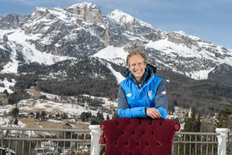 I volti dello sci all'hotel Cristallo di Cortina